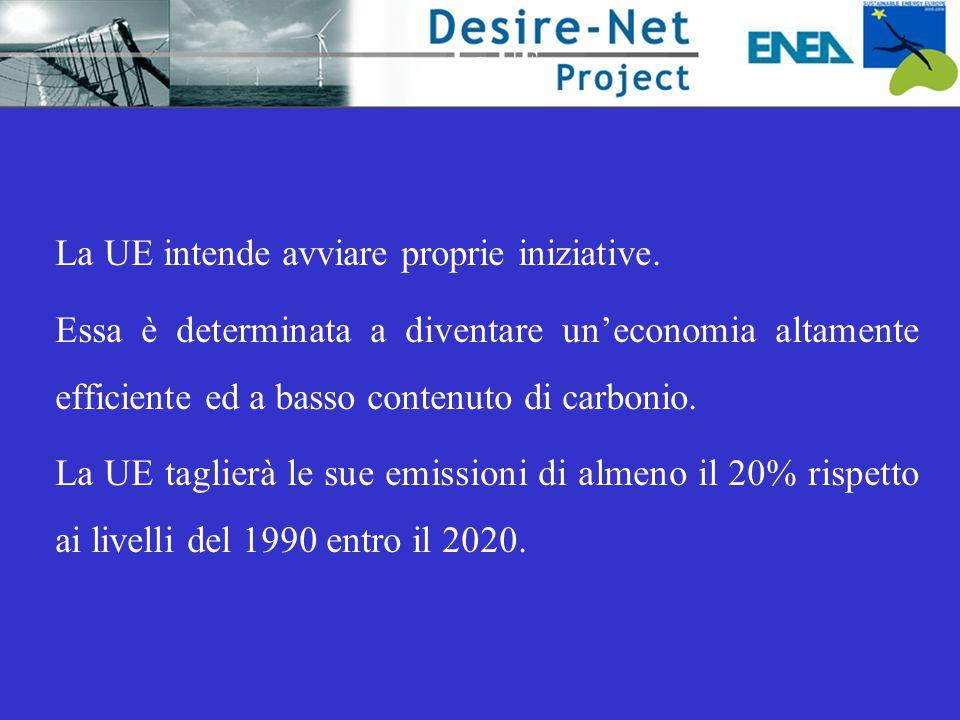 La UE La UE intende avviare proprie iniziative. Essa è determinata a diventare un'economia altamente efficiente ed a basso contenuto di carbonio. La U