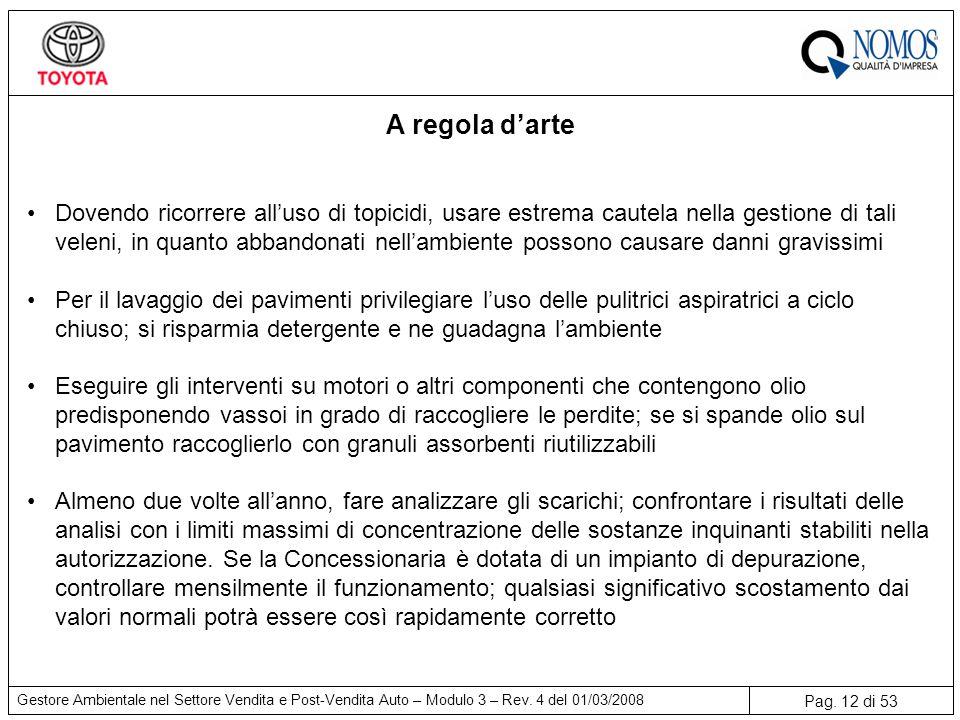 Pag.12 di 53 Gestore Ambientale nel Settore Vendita e Post-Vendita Auto – Modulo 3 – Rev.