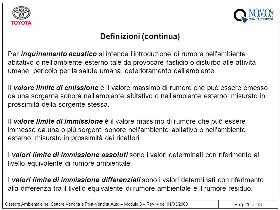 Pag.26 di 53 Gestore Ambientale nel Settore Vendita e Post-Vendita Auto – Modulo 3 – Rev.