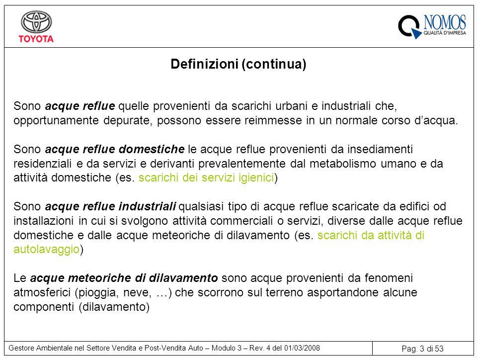 Pag.3 di 53 Gestore Ambientale nel Settore Vendita e Post-Vendita Auto – Modulo 3 – Rev.