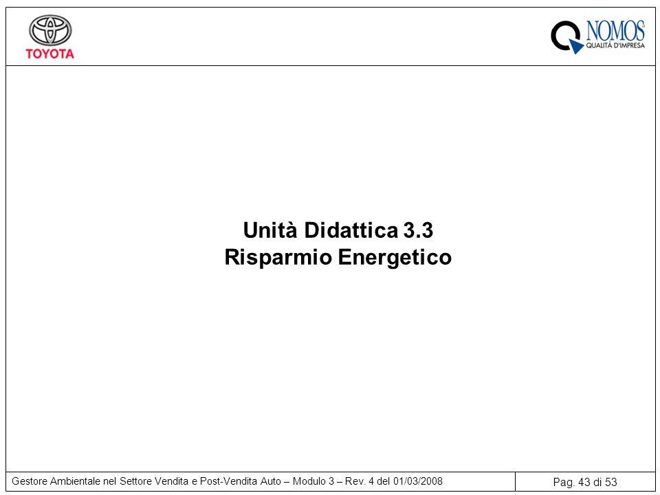 Pag.43 di 53 Gestore Ambientale nel Settore Vendita e Post-Vendita Auto – Modulo 3 – Rev.