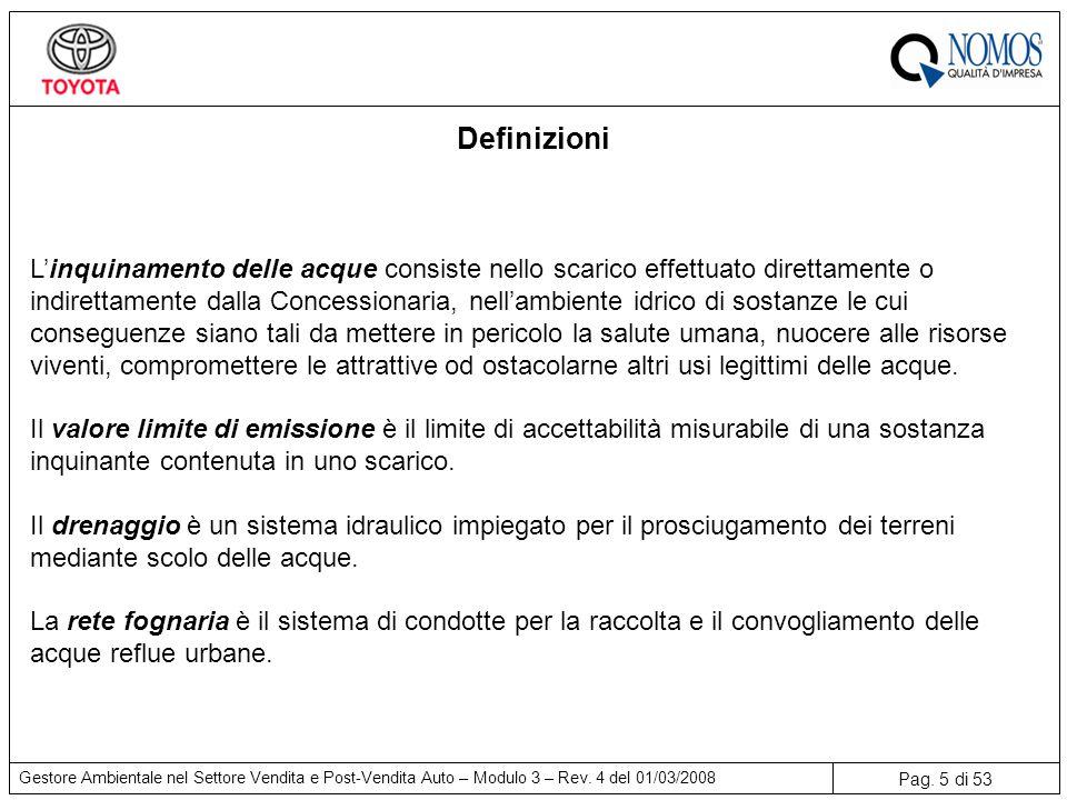 Pag.5 di 53 Gestore Ambientale nel Settore Vendita e Post-Vendita Auto – Modulo 3 – Rev.