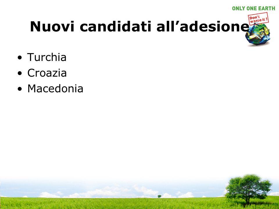 Nuovi candidati all'adesione Turchia Croazia Macedonia