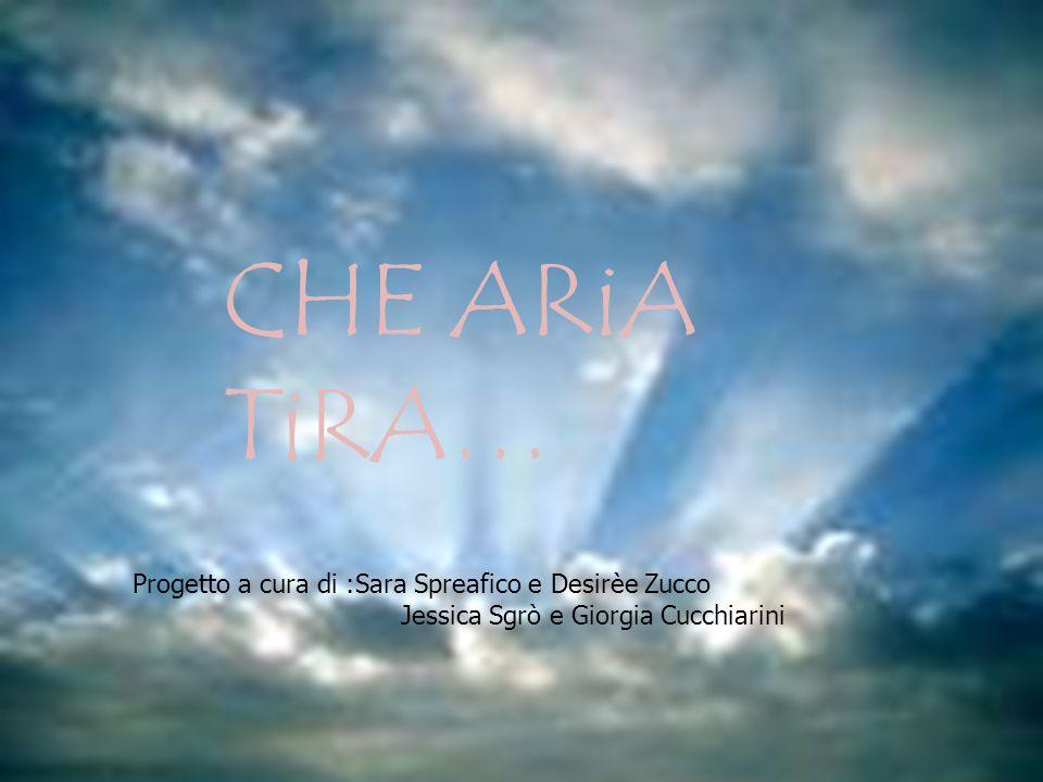 CHE ARiA TiRA… Progetto a cura di :Sara Spreafico e Desirèe Zucco Jessica Sgrò e Giorgia Cucchiarini
