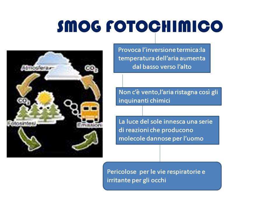 PiOGGE ACiDE Le piogge acide sono precipitazioni contaminate dalla presenza di composti a reazione acida, che si sono formati nell atmosfera come conseguenza di processi di combustione(per riscaldare l'ambiente perciò dare energia).combustione SO2 + O = SO3 + H2O = H2SO4 acido solforico,questo può essere eliminato con delle tecniche di depurazione dei fumi (es.