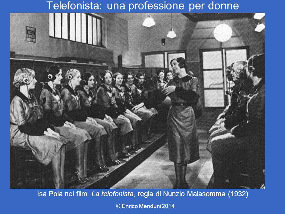 Telefonista: una professione per donne © Enrico Menduni 2014 Isa Pola nel film La telefonista, regia di Nunzio Malasomma (1932)