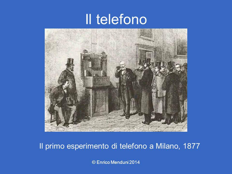 Il telefono Il primo esperimento di telefono a Milano, 1877 © Enrico Menduni 2014