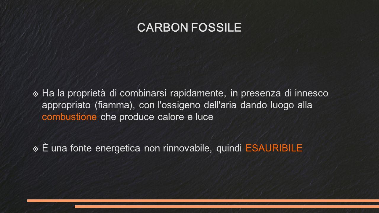 LE FONTI ESAURIBILI  Carbone (o carbon-fossile)  Metano  Petrolio  Uranio CARBONEPETROLIO METANOURANIO