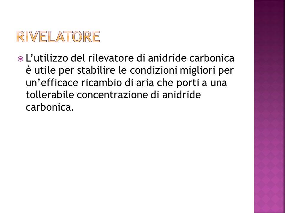  L'utilizzo del rilevatore di anidride carbonica è utile per stabilire le condizioni migliori per un'efficace ricambio di aria che porti a una tollerabile concentrazione di anidride carbonica.