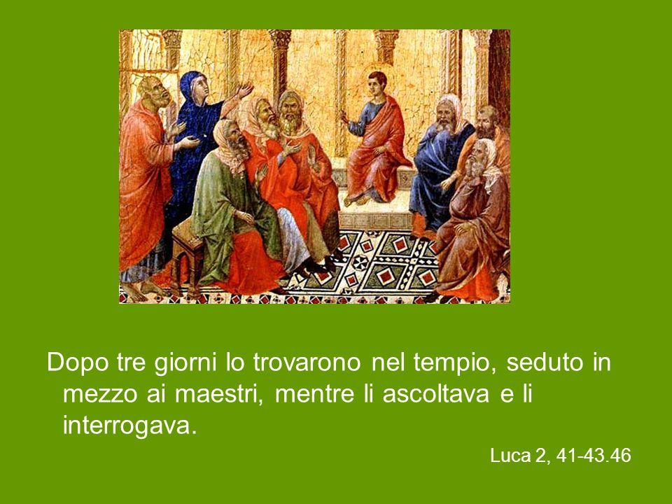 I genitori di Gesù si recavano ogni anno a Gerusalemme per la festa di Pasqua.