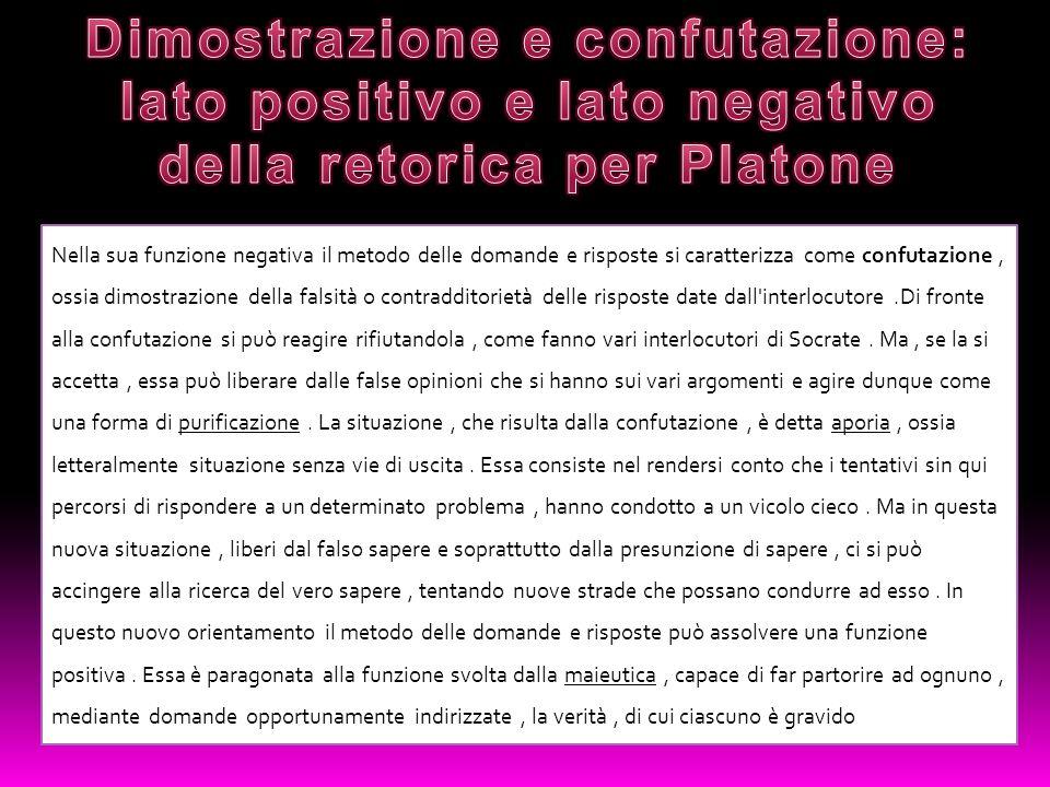 Per Platone l episteme (la scienza) prevale sulla doxa (l opinione) e la condanna nell Eutidemo e nel Gorgia.