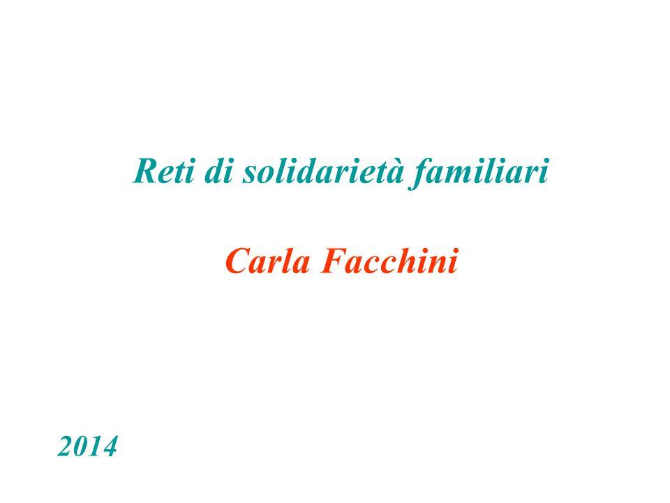 Reti di solidarietà familiari Carla Facchini 2014