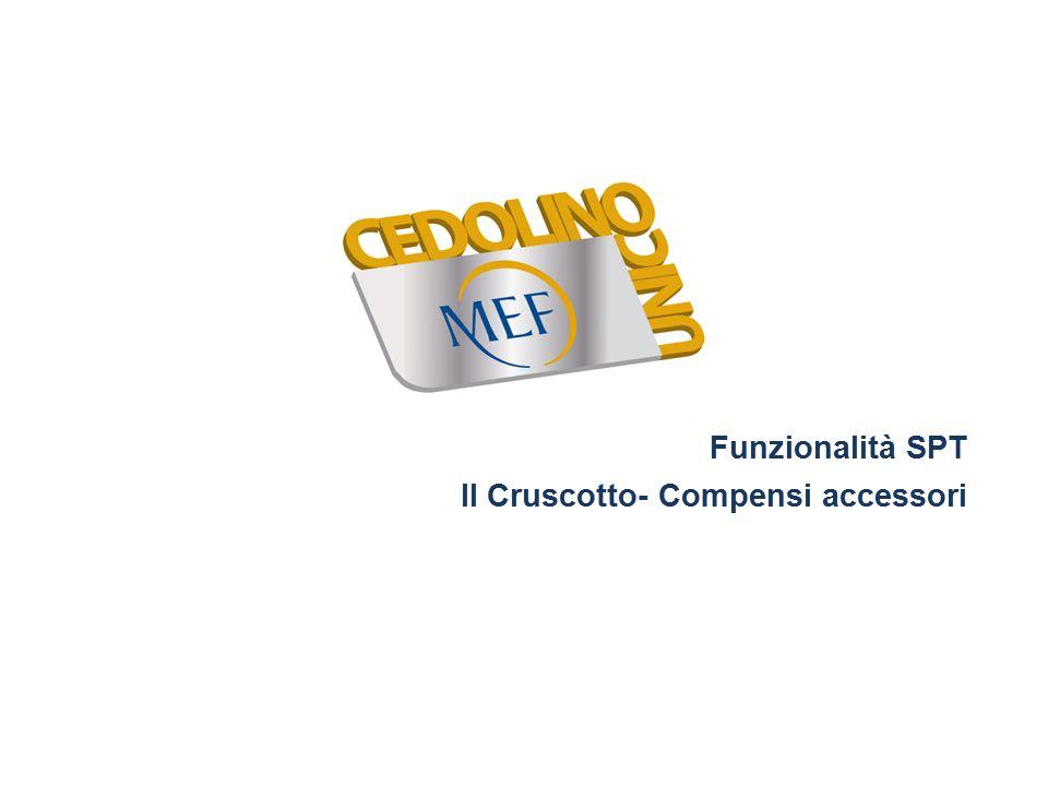 Funzionalità SPT Il Cruscotto- Compensi accessori