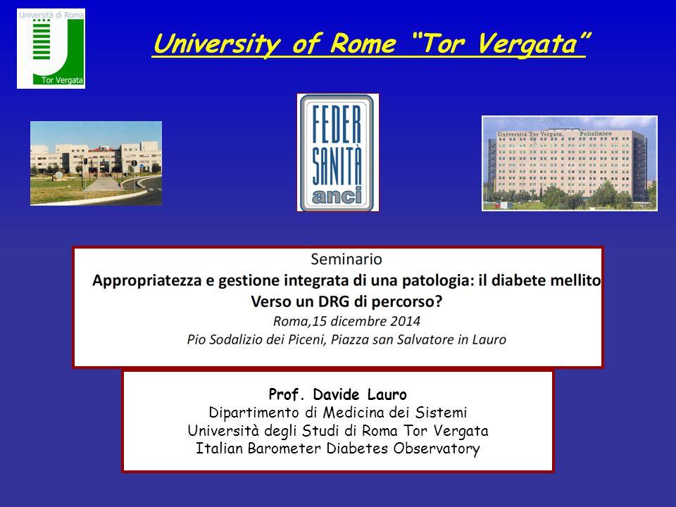 """University of Rome """"Tor Vergata"""" Prof. Davide Lauro Dipartimento di Medicina dei Sistemi Università degli Studi di Roma Tor Vergata Italian Barometer"""