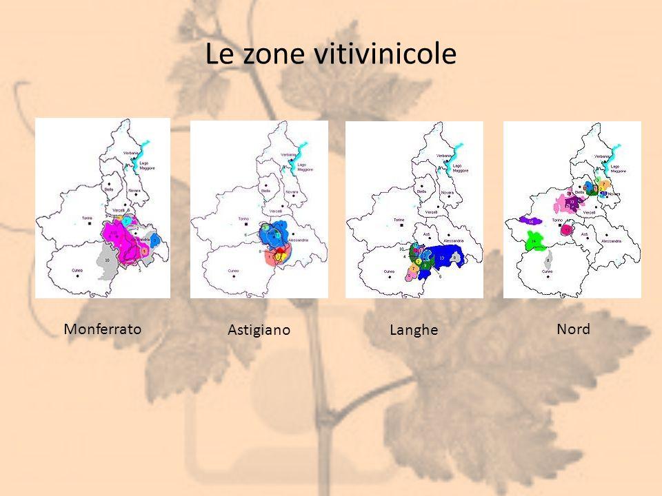 Le zone vitivinicole Monferrato AstigianoLanghe Nord