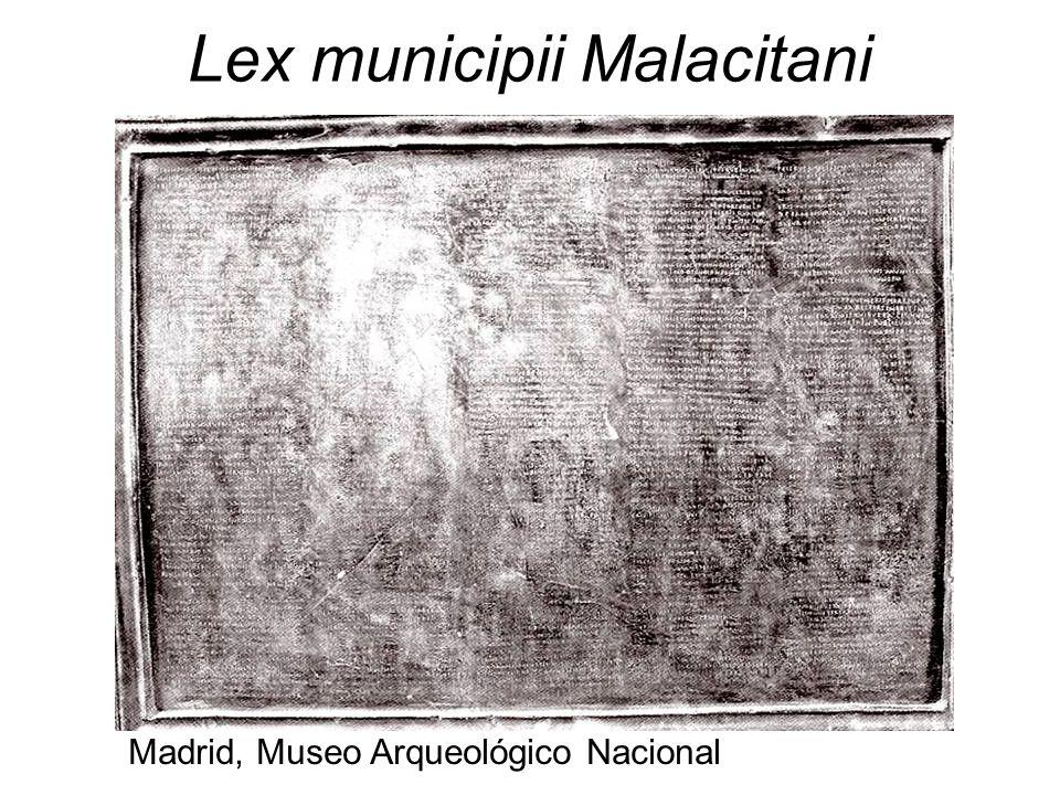 Lex municipii Malacitani Madrid, Museo Arqueológico Nacional