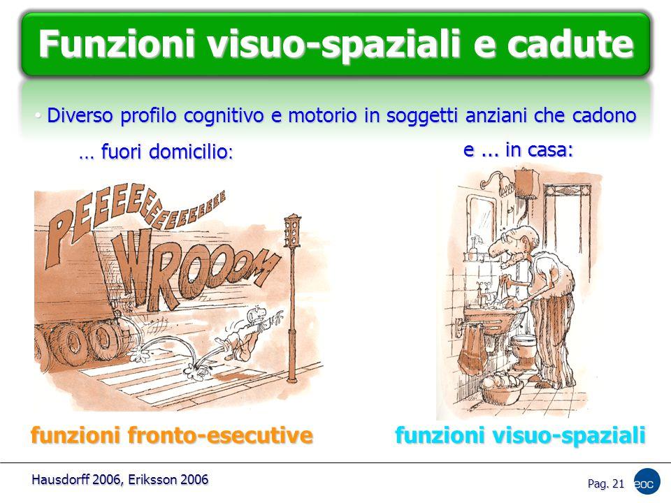 Pag.21 funzioni visuo-spaziali funzioni fronto-esecutive e...