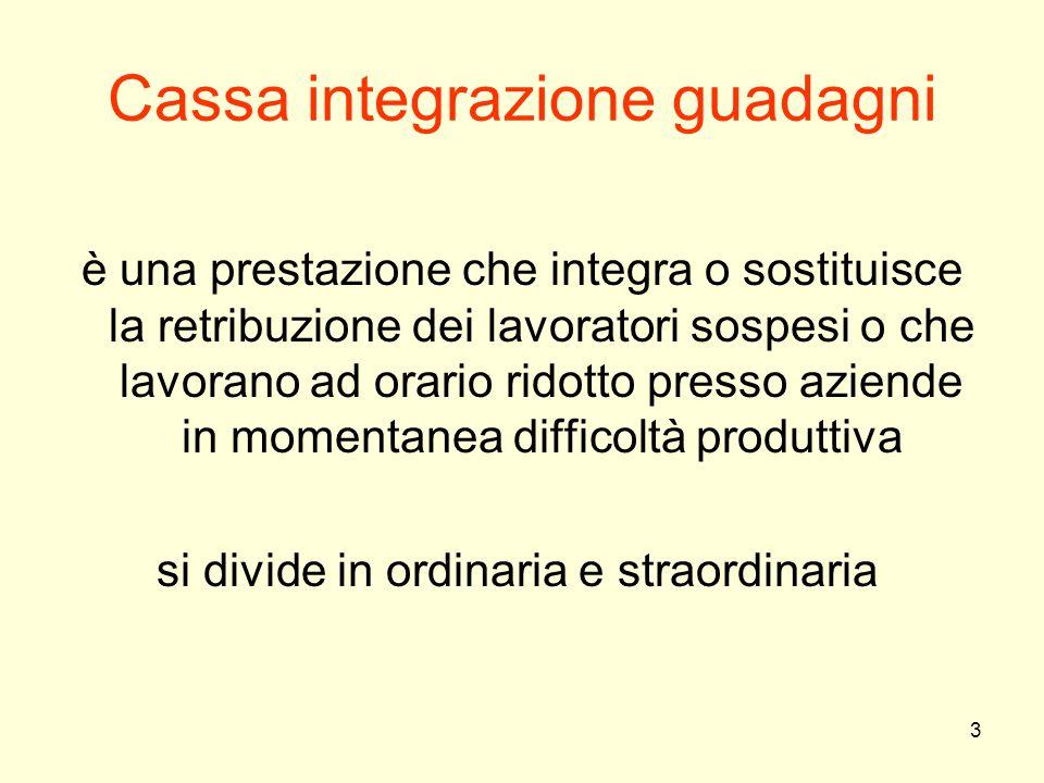 3 Cassa integrazione guadagni è una prestazione che integra o sostituisce la retribuzione dei lavoratori sospesi o che lavorano ad orario ridotto pres