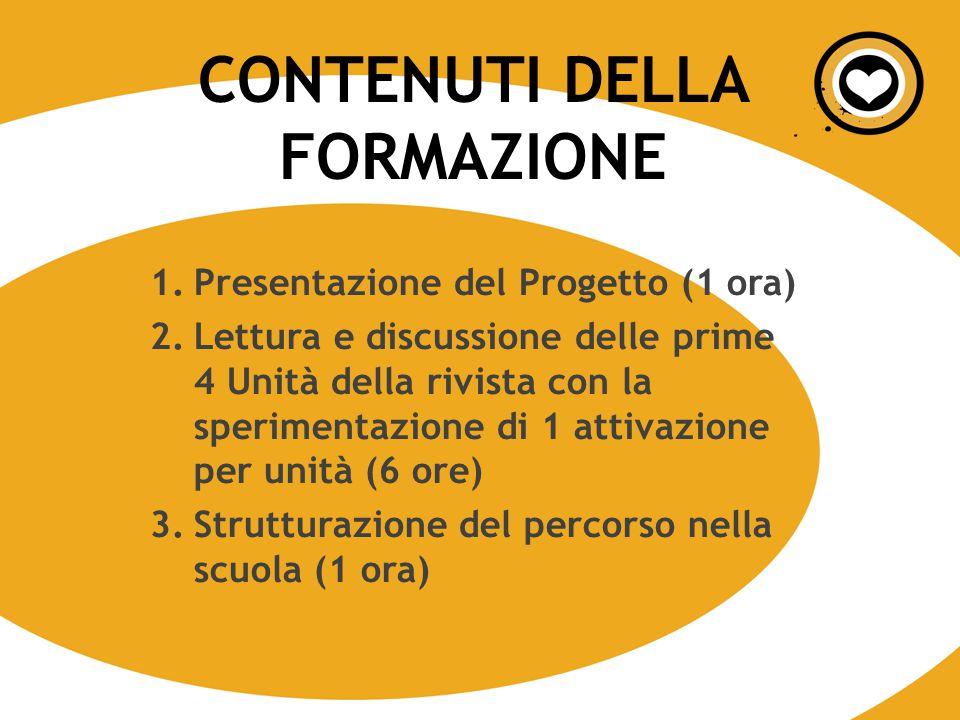 1.Presentazione del Progetto (1 ora) 2.Lettura e discussione delle prime 4 Unità della rivista con la sperimentazione di 1 attivazione per unità (6 or