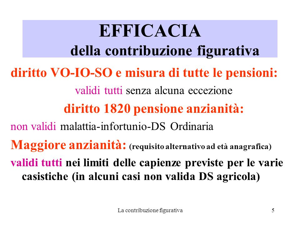 La contribuzione figurativa16 MATERNITA' all'interno del rapporto di lavoro accredito a domanda (RDL n.