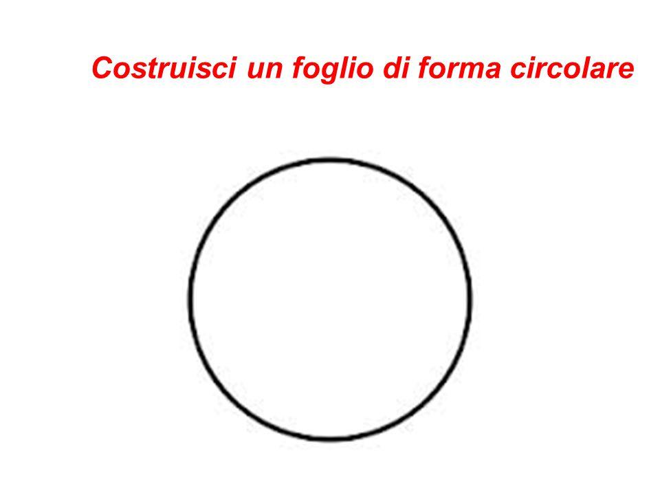 Costruisci un foglio di forma circolare