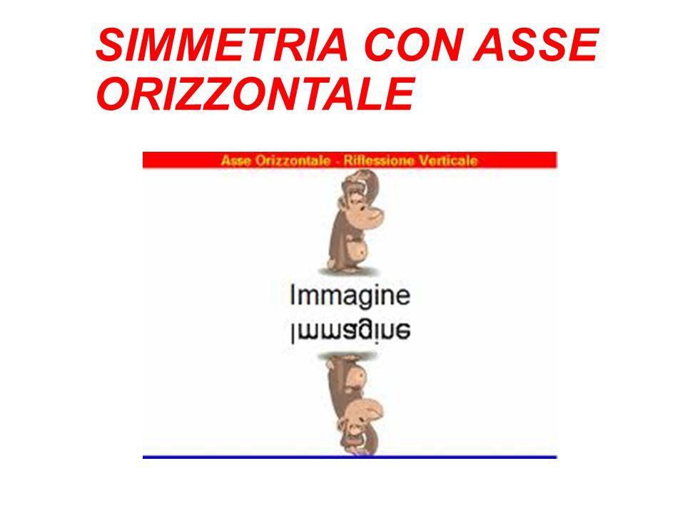 SIMMETRIA CON ASSE ORIZZONTALE