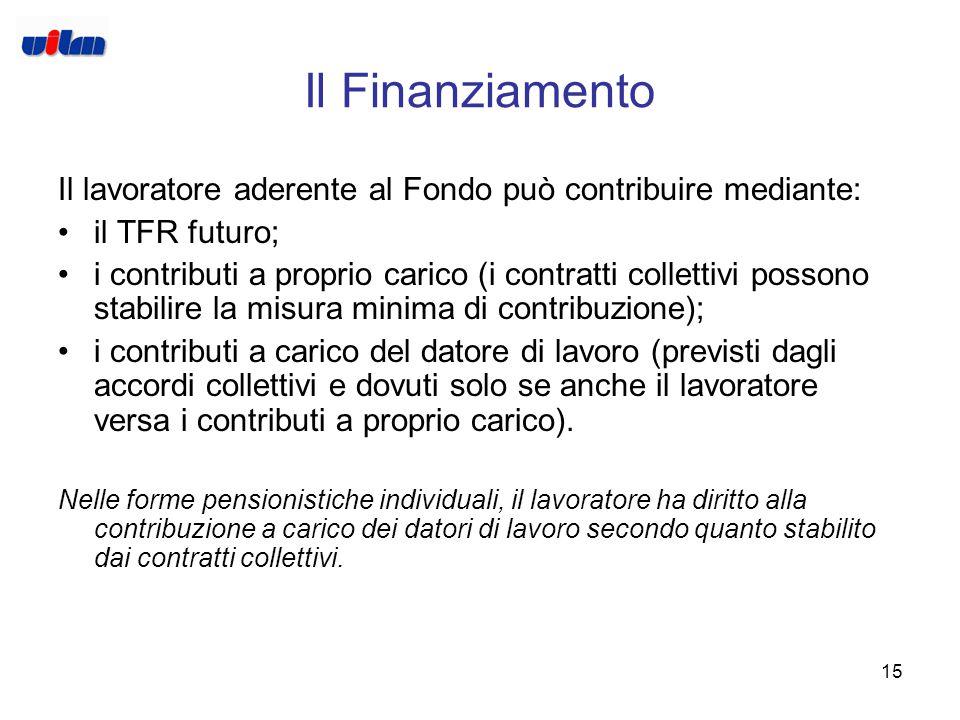 14 Le tipologie di Fondo FONDI PENSIONE NEGOZIALI (O CHIUSI) Nascono da contratti collettivi e si rivolgono ad una base circoscritta di lavoratori. Ra
