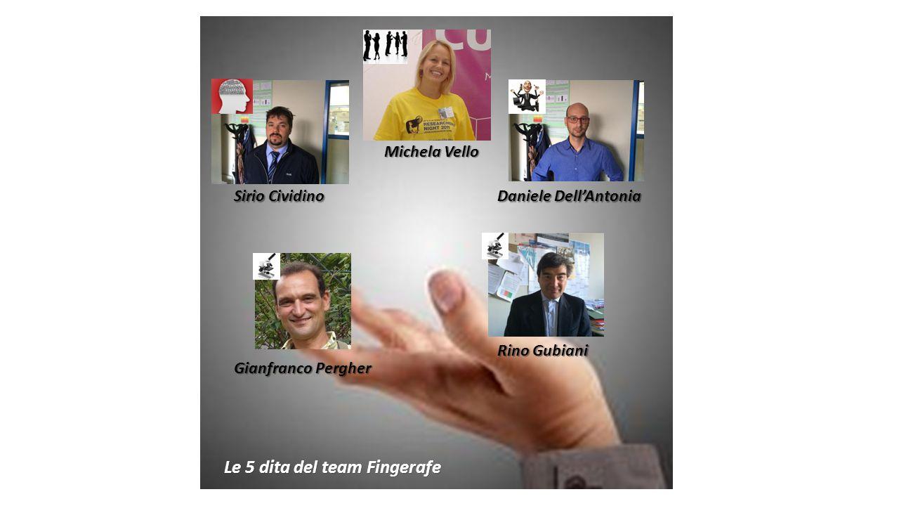 Sirio Cividino Michela Vello Daniele Dell'Antonia Le 5 dita del team Fingerafe Rino Gubiani Gianfranco Pergher
