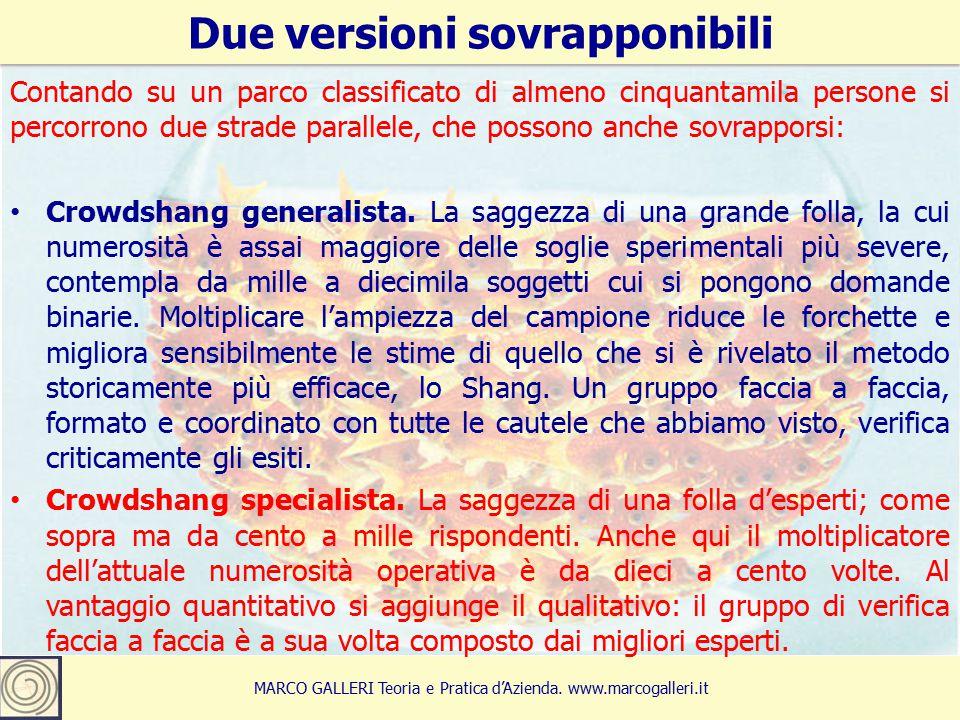 10 Due versioni sovrapponibili MARCO GALLERI Teoria e Pratica d'Azienda.