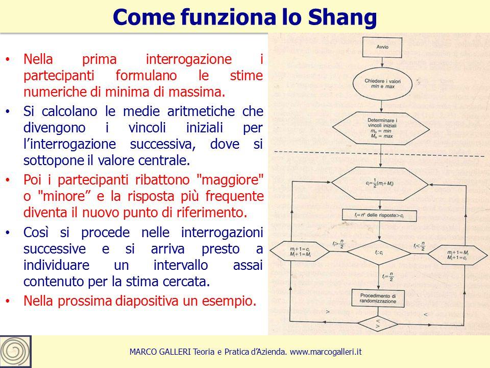 7 Come funziona lo Shang MARCO GALLERI Teoria e Pratica d'Azienda.