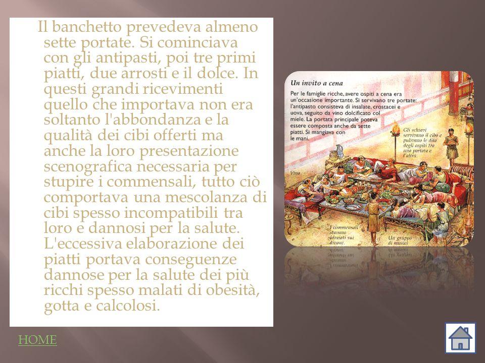 La presenza di tanti cibi e del vino, che esaltavano i piaceri della vita, portava con sé anche una riflessione sulla fine della vita.La morte era un tema dominante, rappresentato nei mosaici, in cui i servitori venivano raffigurati forma di scheletri che portano anfore come quelle ritrovate nel vasellame d argento a Boscoreale.