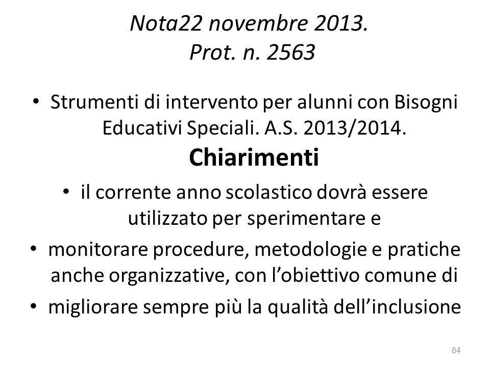 Nota22 novembre 2013.Prot. n.