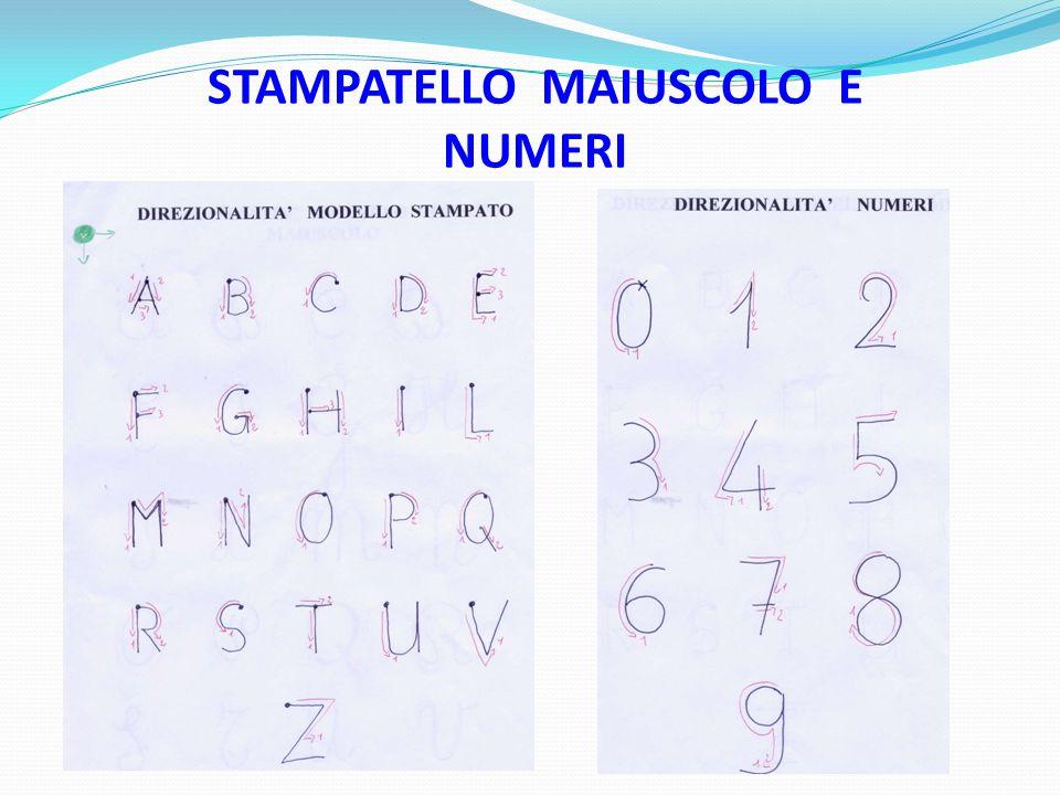 STAMPATELLO MAIUSCOLO E NUMERI
