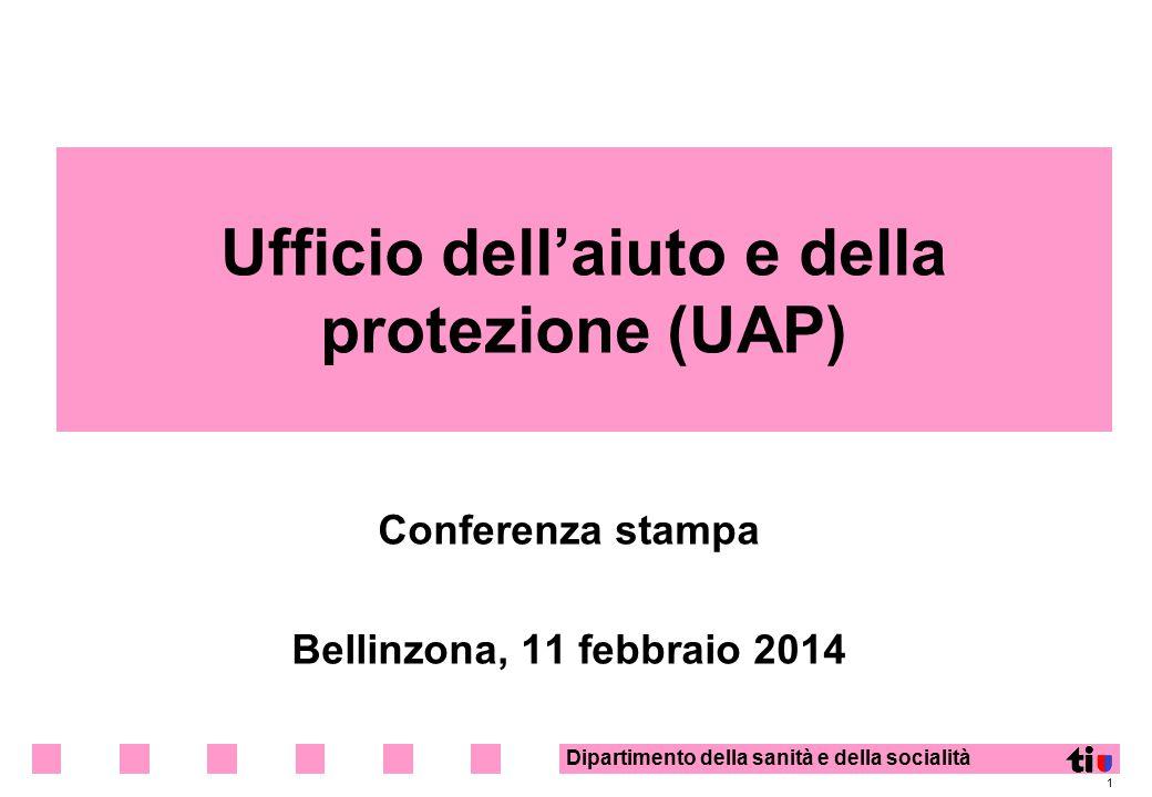 Dipartimento della sanità e della socialità 1 Ufficio dell'aiuto e della protezione (UAP) Conferenza stampa Bellinzona, 11 febbraio 2014