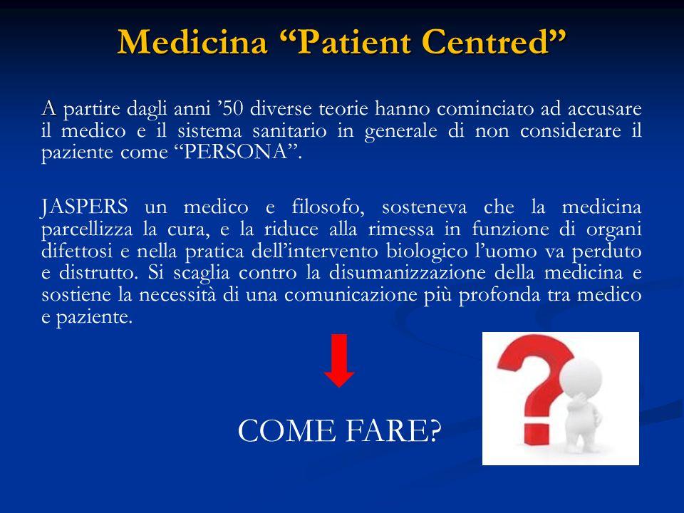 Medicina Patient Centred IL CONTRIBUTO DI BALINT - « - «PERSON CENTRED MEDICINE».