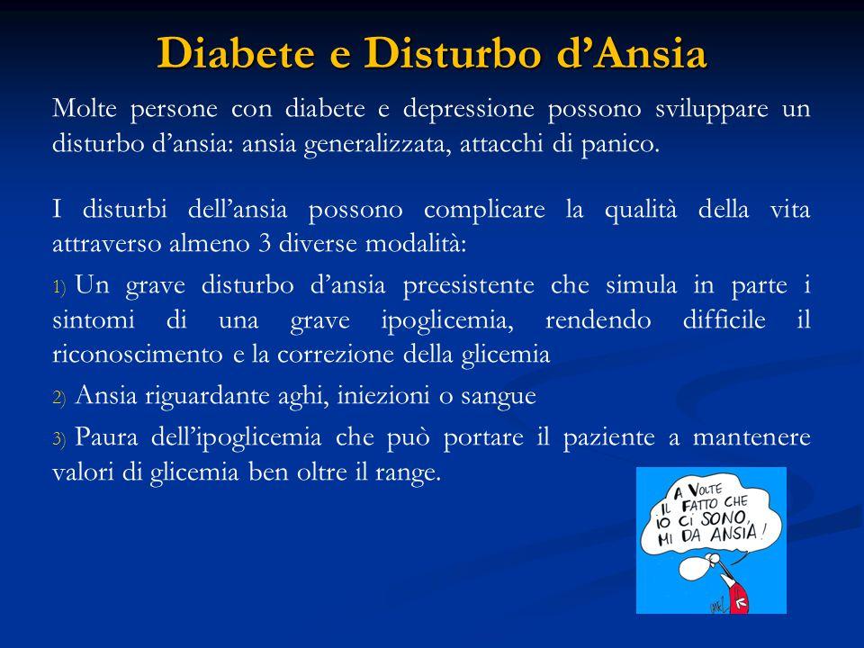 Diabete e Disturbi dell'Alimentazione Tra i diabetici tipo 1 specialmente le donne, si è osservato un rischio due volte maggiore di sviluppare disturbi dell'alimentazione rispetto ai non diabetici.