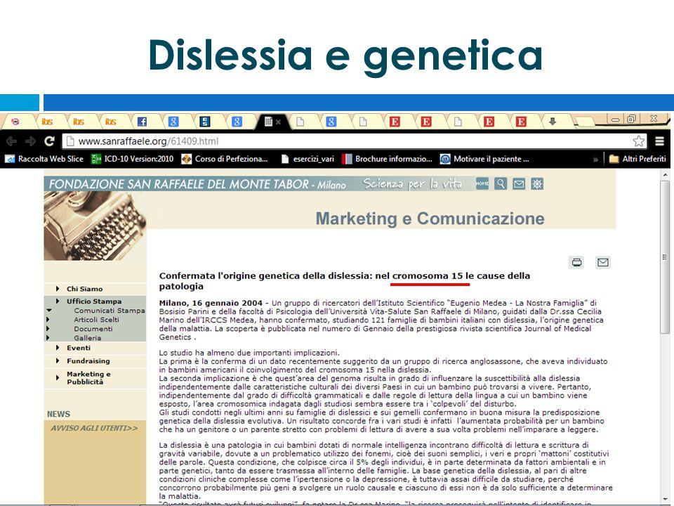 Dislessia e genetica
