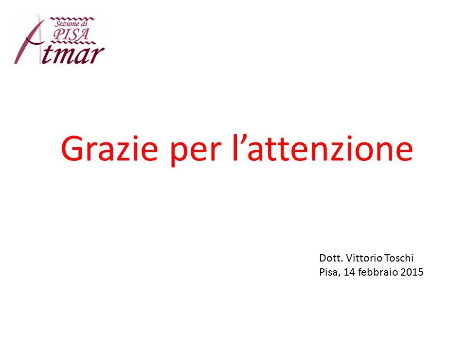 Grazie per l'attenzione Dott. Vittorio Toschi Pisa, 14 febbraio 2015