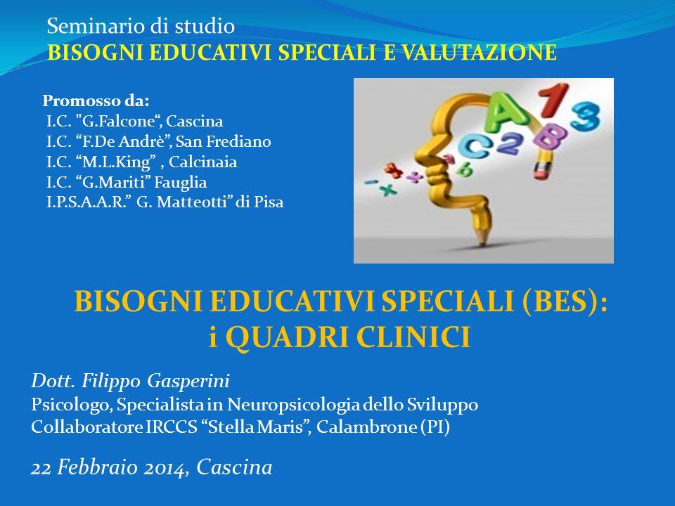 Seminario di studio BISOGNI EDUCATIVI SPECIALI E VALUTAZIONE 22 Febbraio 2014, Cascina Promosso da: I.C.