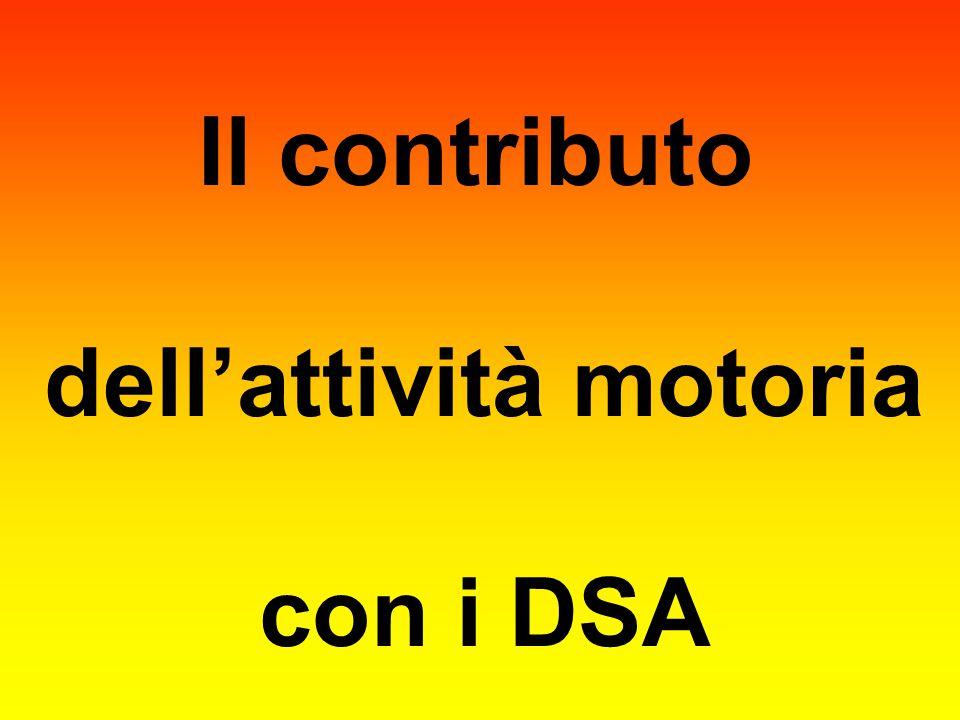 Il contributo dell'attività motoria con i DSA