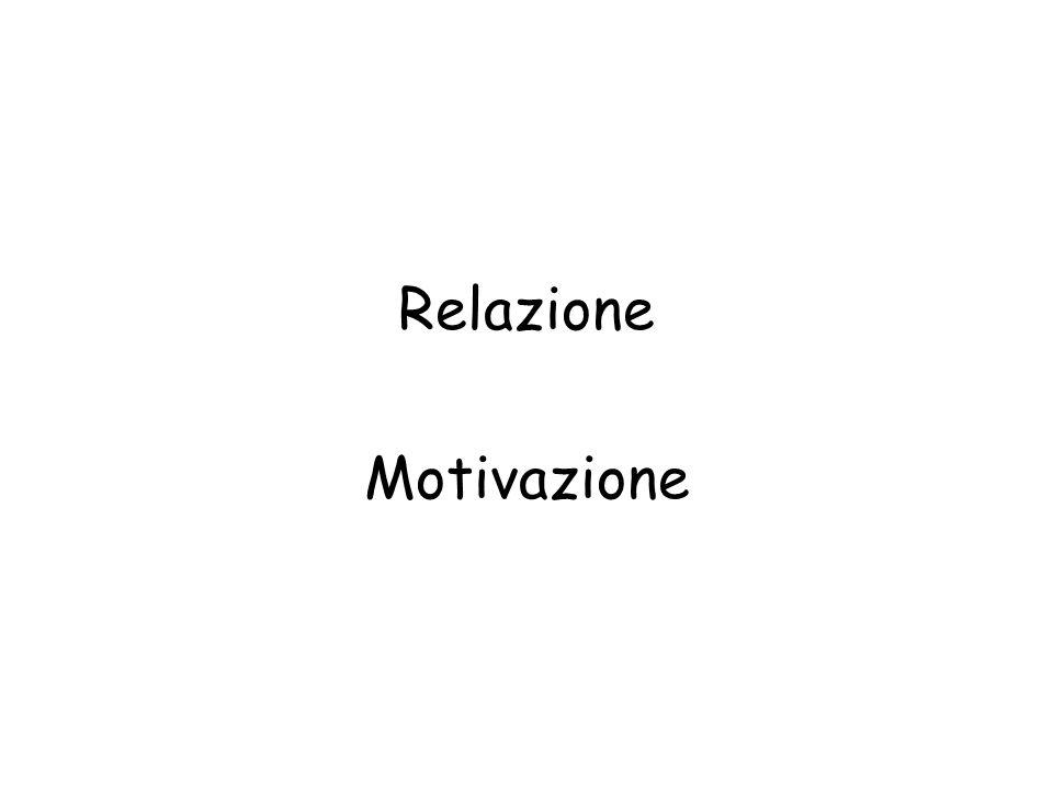 Relazione Motivazione