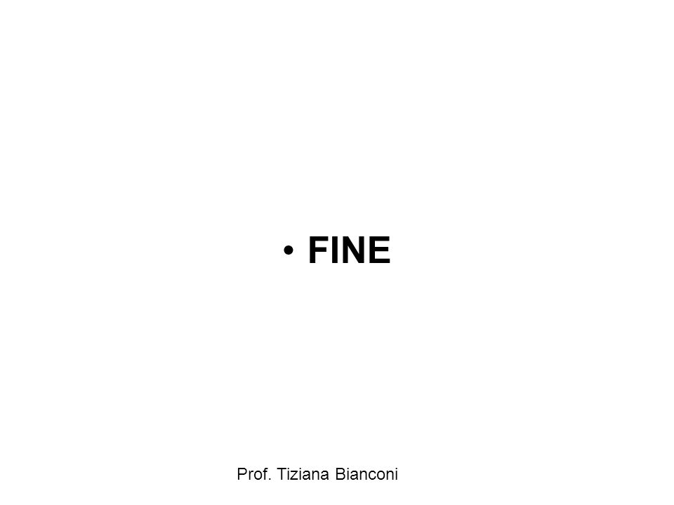 Prof. Tiziana Bianconi FINE