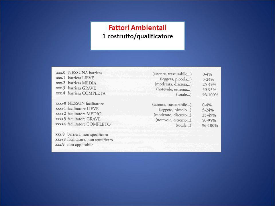 Fattori Ambientali 1 costrutto/qualificatore