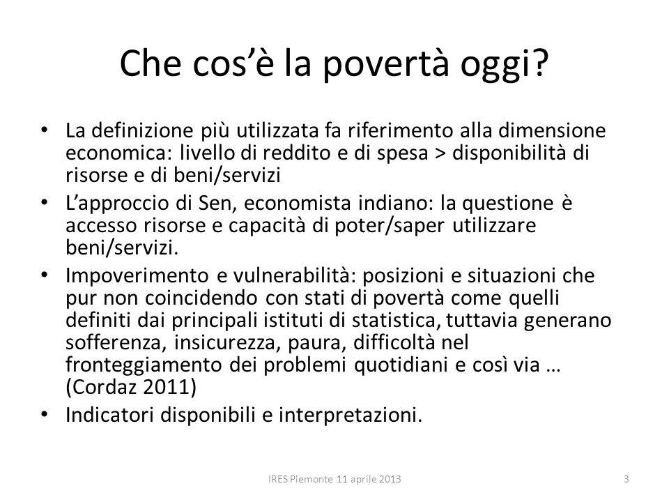 Possesso di risorse e funzionamenti IRES Piemonte 11 aprile 20134