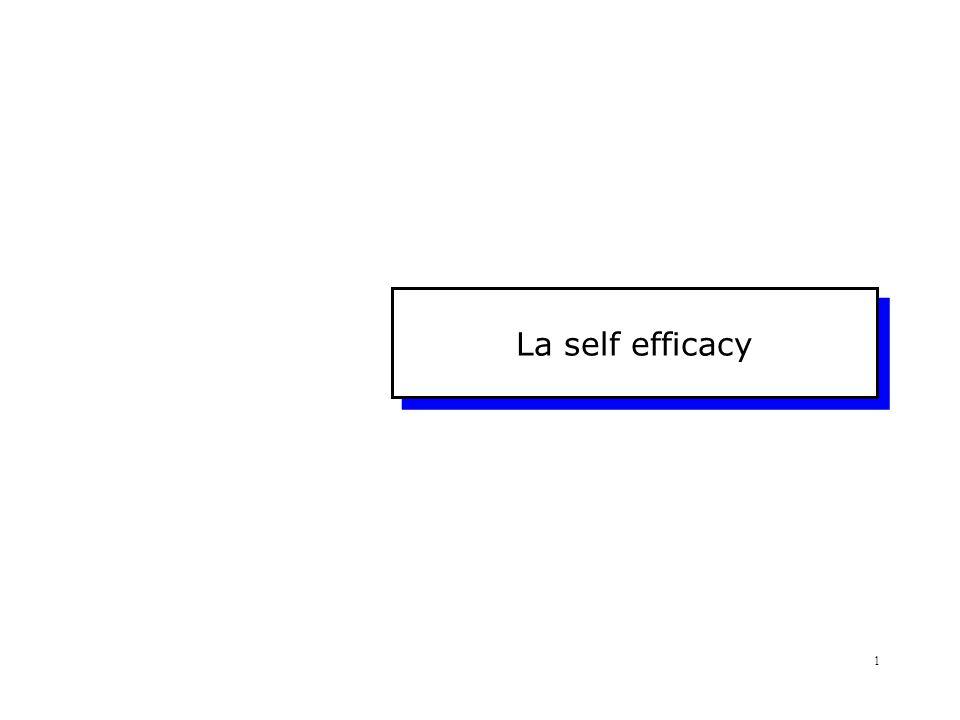 Che cos'è.La Self-Efficacy è...