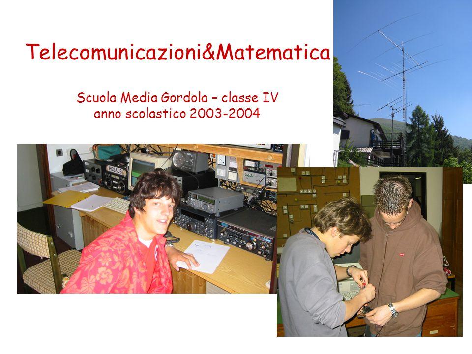 Telecomunicazioni&Matematica Scuola Media Gordola – classe IV anno scolastico 2003-2004