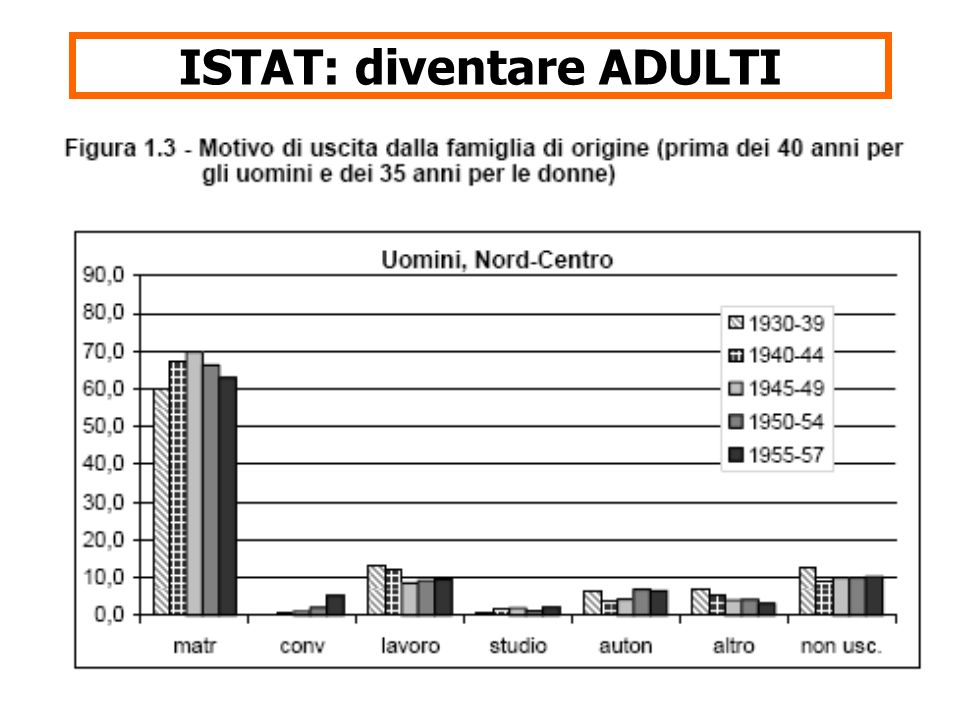 17 ISTAT: diventare ADULTI