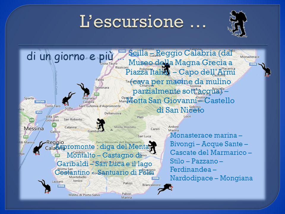 di un giorno e più … Aspromonte : diga del Menta – Montalto – Castagno di Garibaldi – San Luca e il lago Costantino - Santuario di Polsi Monasterace m