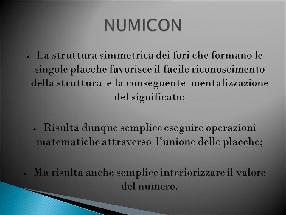 ● Per questo, NUMICOM Favorisce la memorizzazione del numero attraverso l'associazione alla placca; ● LA RAPPRESENTAZIONE SENSORIALE DEL NUMERO CONSENTE LA COSTRUZIONE DELL'IMMAGINE MENTALE DELLO STESSO