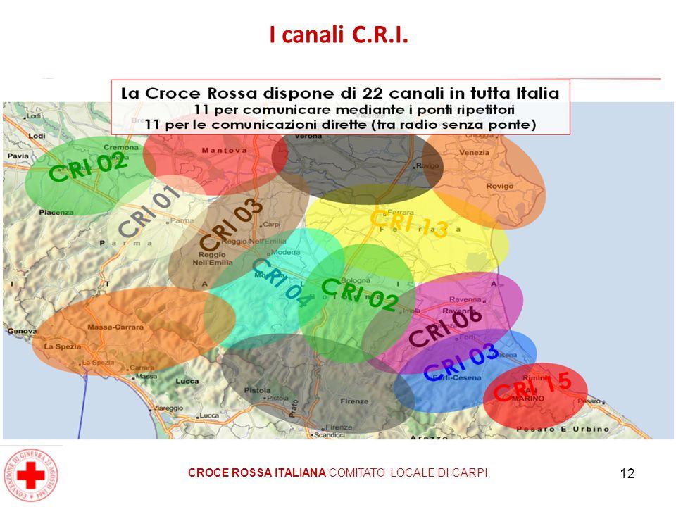 12 I canali C.R.I. CROCE ROSSA ITALIANA COMITATO LOCALE DI CARPI